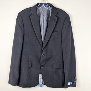 14th & Union | Black Button Suit Blazer-E50